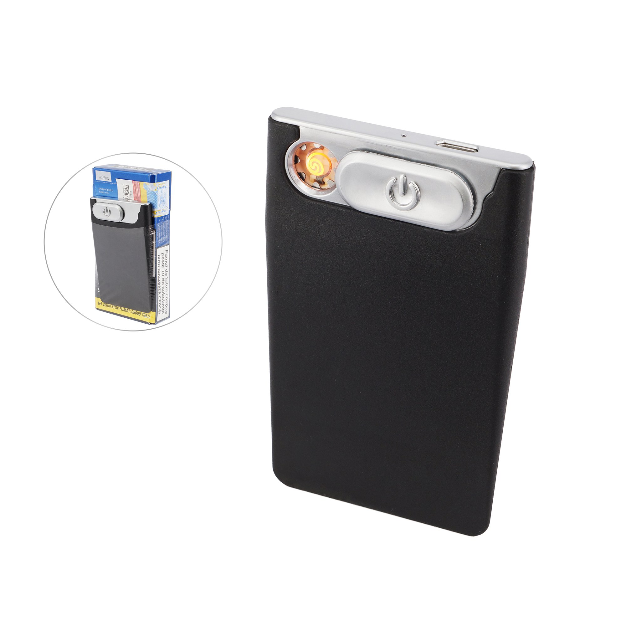 PRIMO Ultra Thin Blade Shape USB Rechargeable Windproof Coil Lighter Slim for Cig Pack (2 Units)