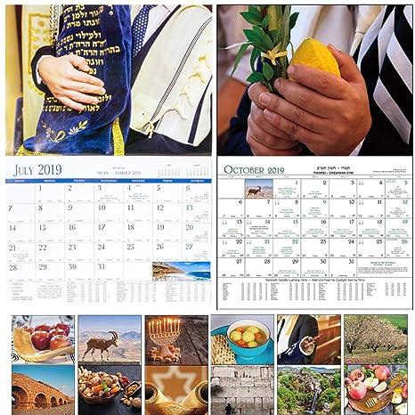 Amazon com : Jewish Wall Calendar Sep 2018 - Sep 2019 and