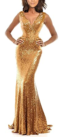 4a9b0c2e304 Amazon.com  Rong store Rongstore Red Prom Dress with Sequins AZ003 ...
