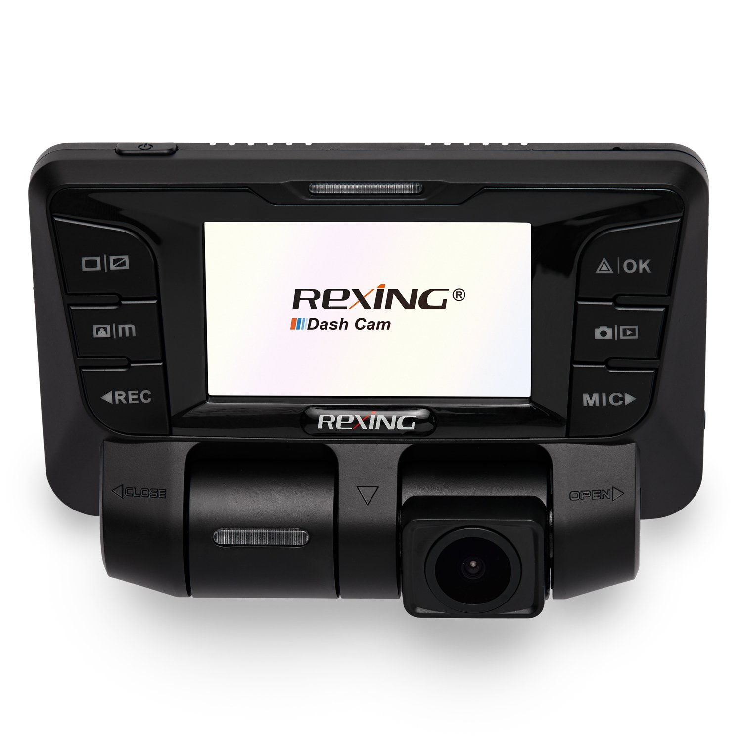 Rexing V2 Dash Cam Dual Channel 1080p+1080p Full HD 170+170 Degrees Wide Angle, WDR WiFi 2160p Dashboard Camera