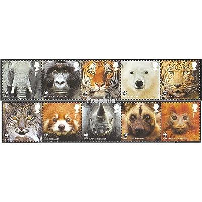 Royaume-Uni 3067-3076 bande de cinq (complète.Edition.) 2011 50 Années wwf le forêt (Timbres pour les collectionneurs)
