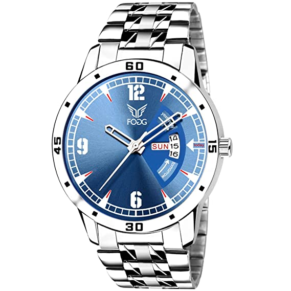 Buy Fogg Analog Blue Day And Date Mens Watch 2048 Bl Online At Low