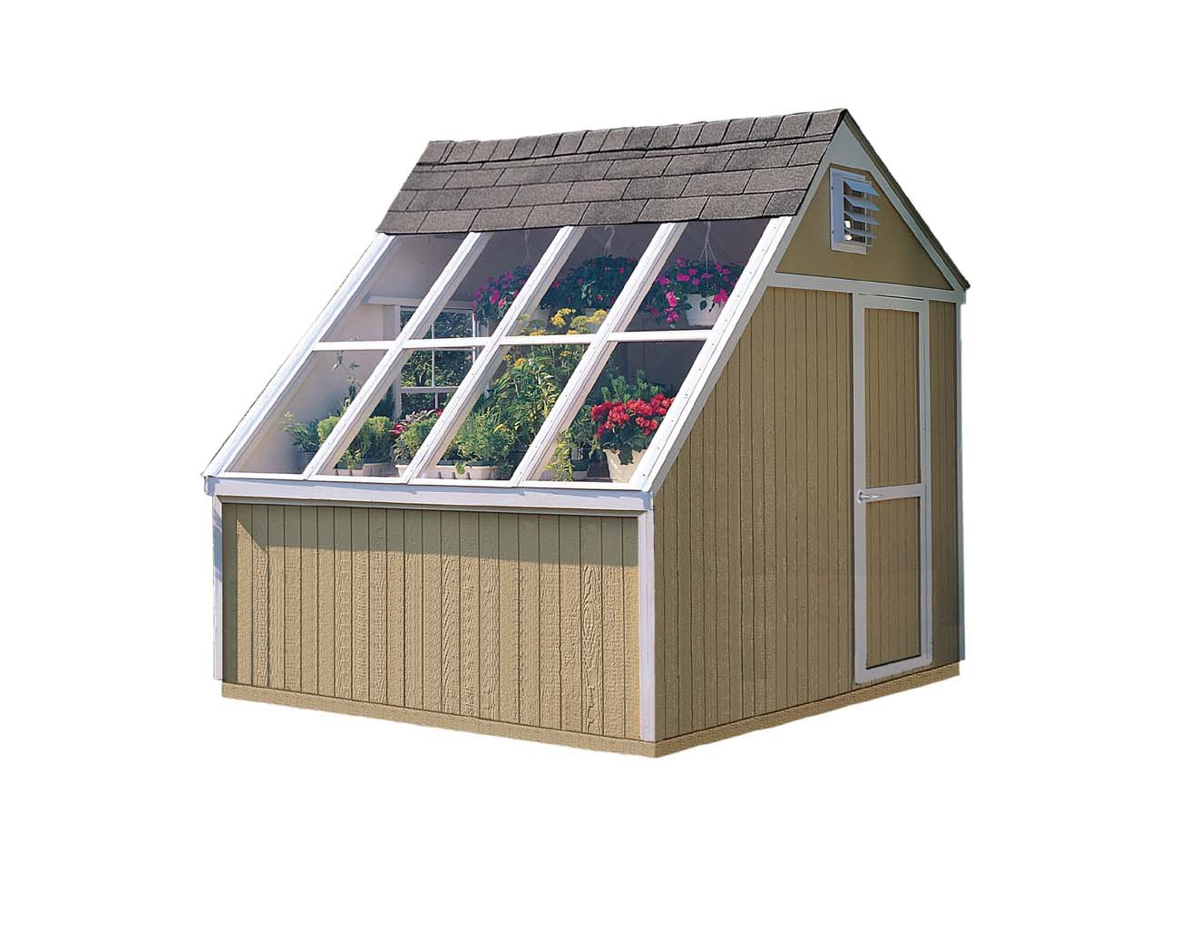 Handy Home Products Phoenix Solar Shed with Floor, 10 by 8-Feet by Handy Home Products