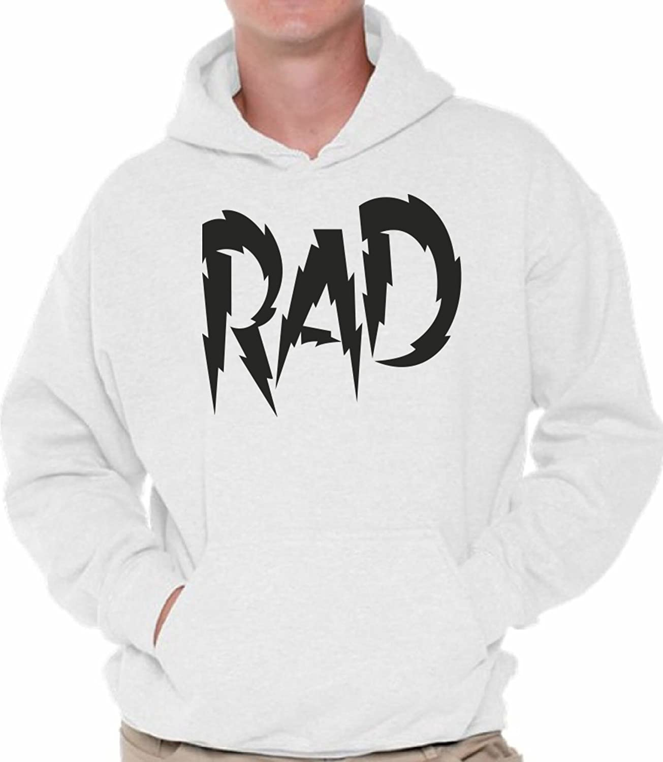 Awkward Styles Mens Rad Dad Hoodie Hooded Sweatshirt Father`s Day Gift Coolest Dad