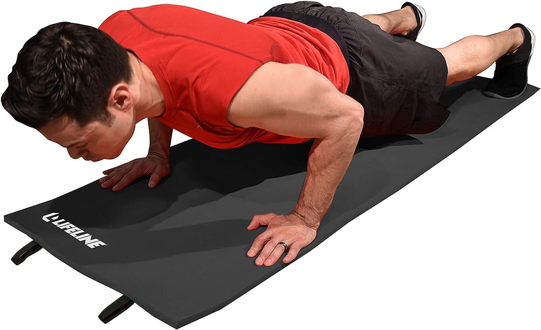 Lifeline Exercise Mat - Black, One Size