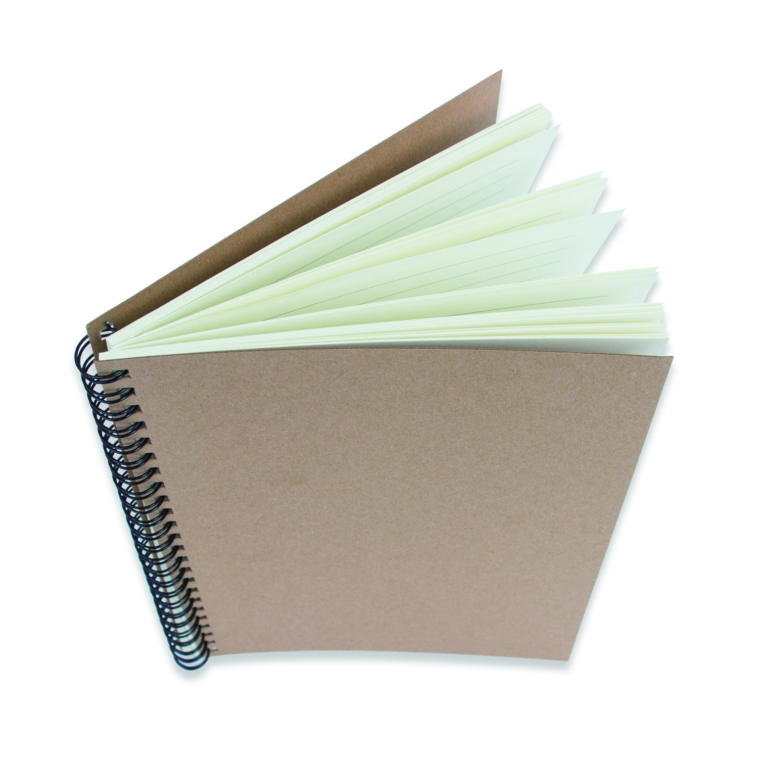 Kraft Paper Cover Notebooks Spiral Notebooks (A5 Size, Set of 3) (Cartwheel Double Iron Ring) by Luck'y stores (Image #2)
