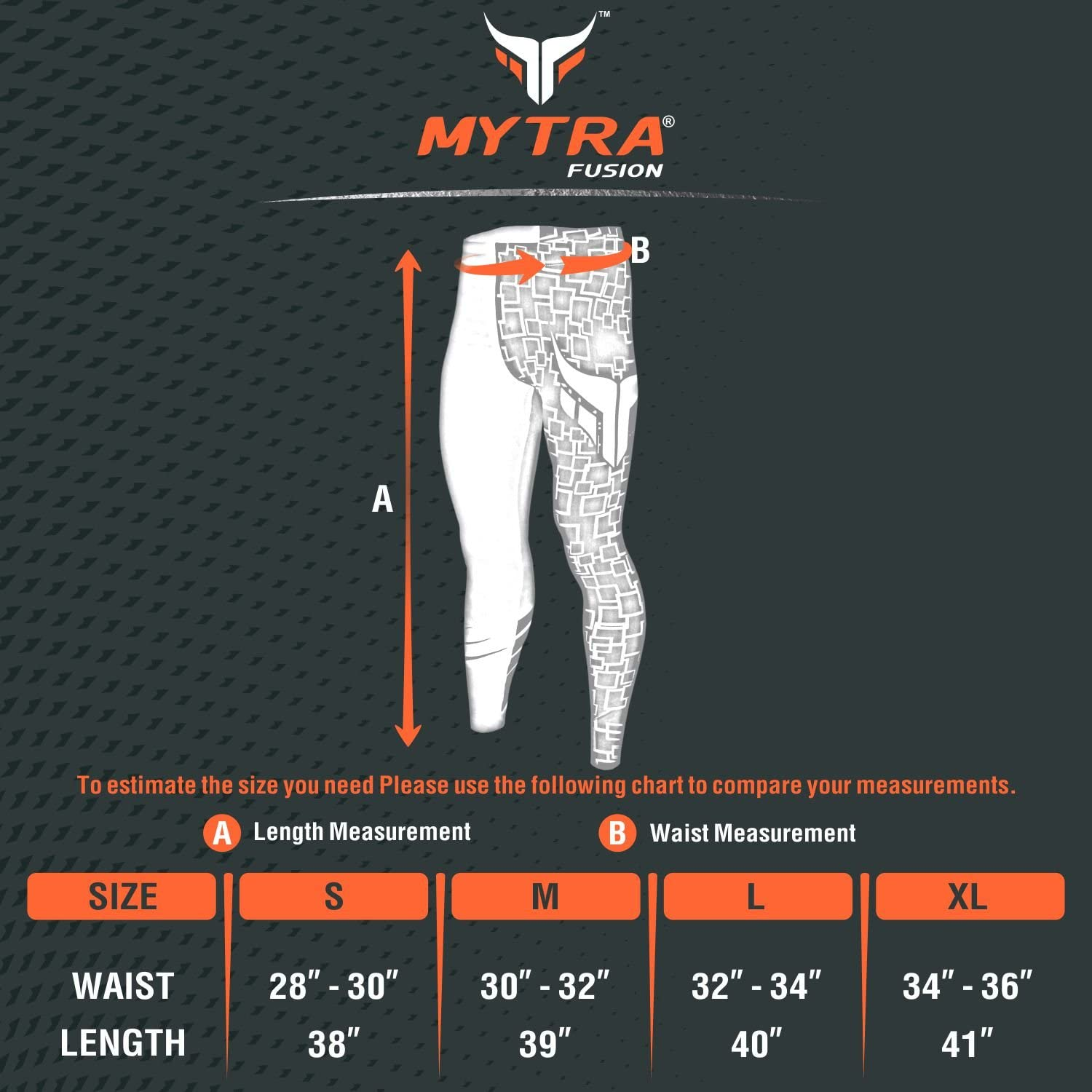 Mytra Fusion All Season Unisex Heat Gear Compression Trouser