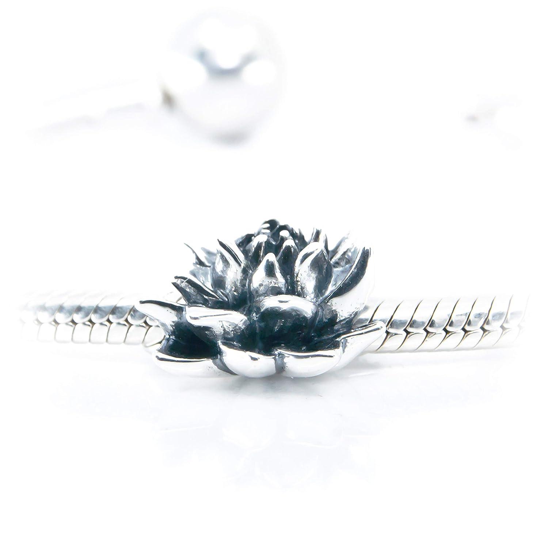 Free Ship 124pcs tibet silver lotus flower charms 16x20mm B5024