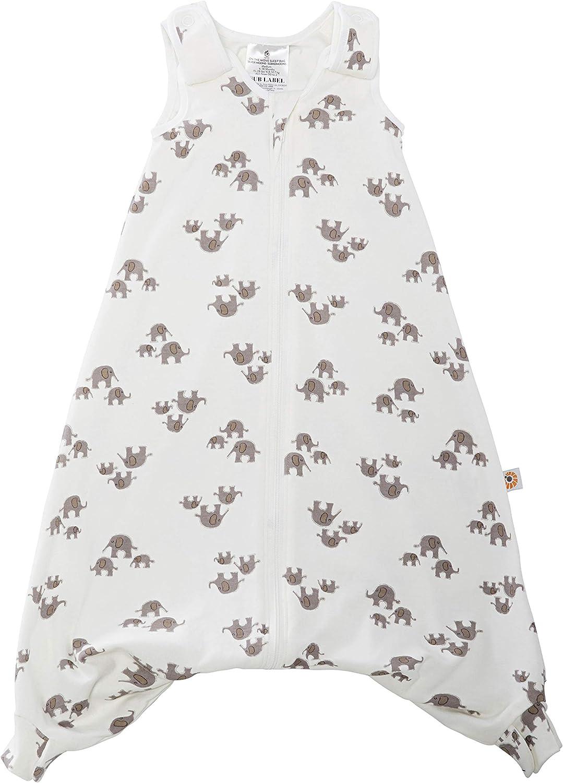ERGObaby SLBLGELPH5 - Saco de dormir para bebé (verano, con ranura para cinturón, 18-36 meses, 0,5 TOG, algodón), multicolor