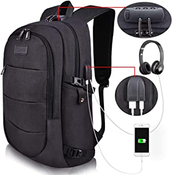 Tzowla Business Laptop Backpack Anti-Theft College Backpack with USB  Charging Port and Lock 15.6 e922579fdc