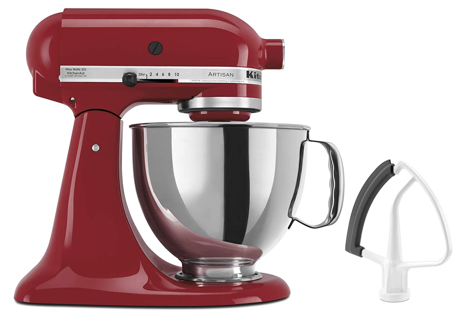 KitchenAid KSM150FEER Artisan Bundle Stand Mixers, 5 quart, Empire Red