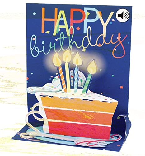 Popshots 3D Pop Up Sound Musical Greeting Card Birthday Big Slice Of