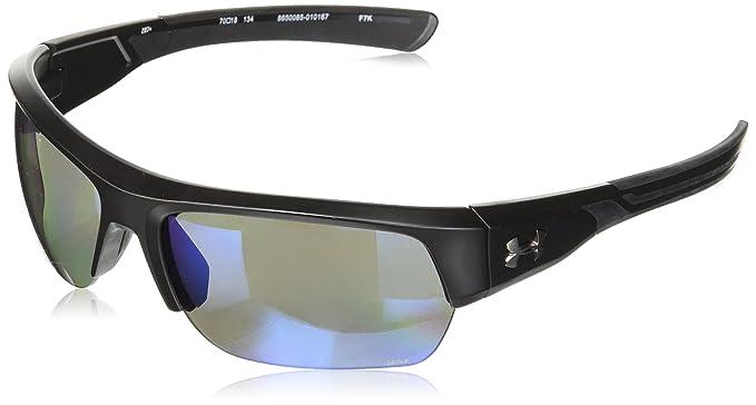 Amazon.com: under armour Big Shot anteojos de sol, negro, 65 ...