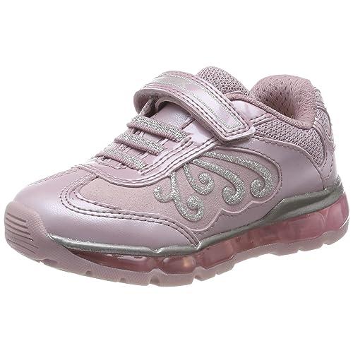 Geox J Android Girl A Zapatillas para Niñas Pink Pink Silver C0514 33 EU