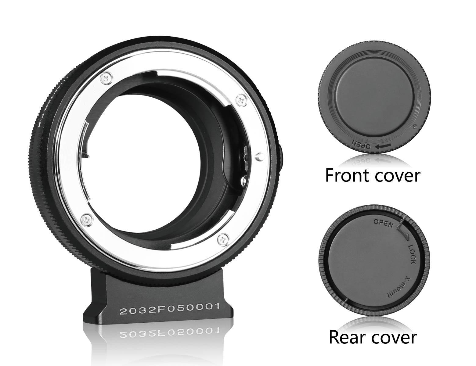 MEIKE MK-NF-F Mount Manual Adapter Ring Professional Design for Nikon F-Mount Lens to Fuji Mirrorless X-mount Camera X-T1 X-T2 X-Pro1 X-Pro2 X-T10 etc(Black
