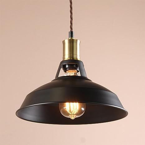 Buyee Vintage Industrial Edison Lámpara de techo 1 luz Metal ...