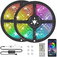 Deals on kdorrku Bluetooth LED Strip Lights Music Sync 32.8FT 10M RGB