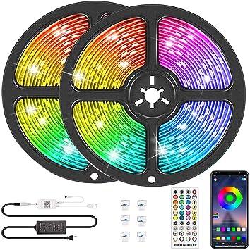 Bluetooth LED Strip Light 15M RGB 3528 SMD Flexible Ribbon 12V Bluetooth Control