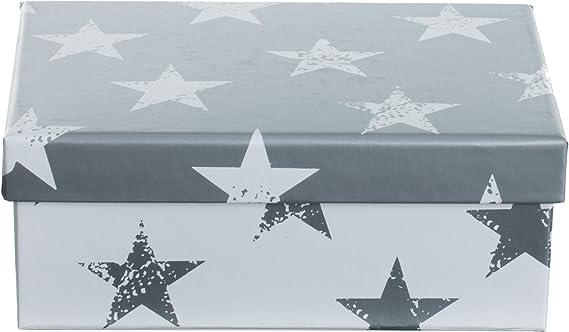 metal dise/ño de estrellas Brandsseller Juego de 3 cajas para galletas color gris y beige