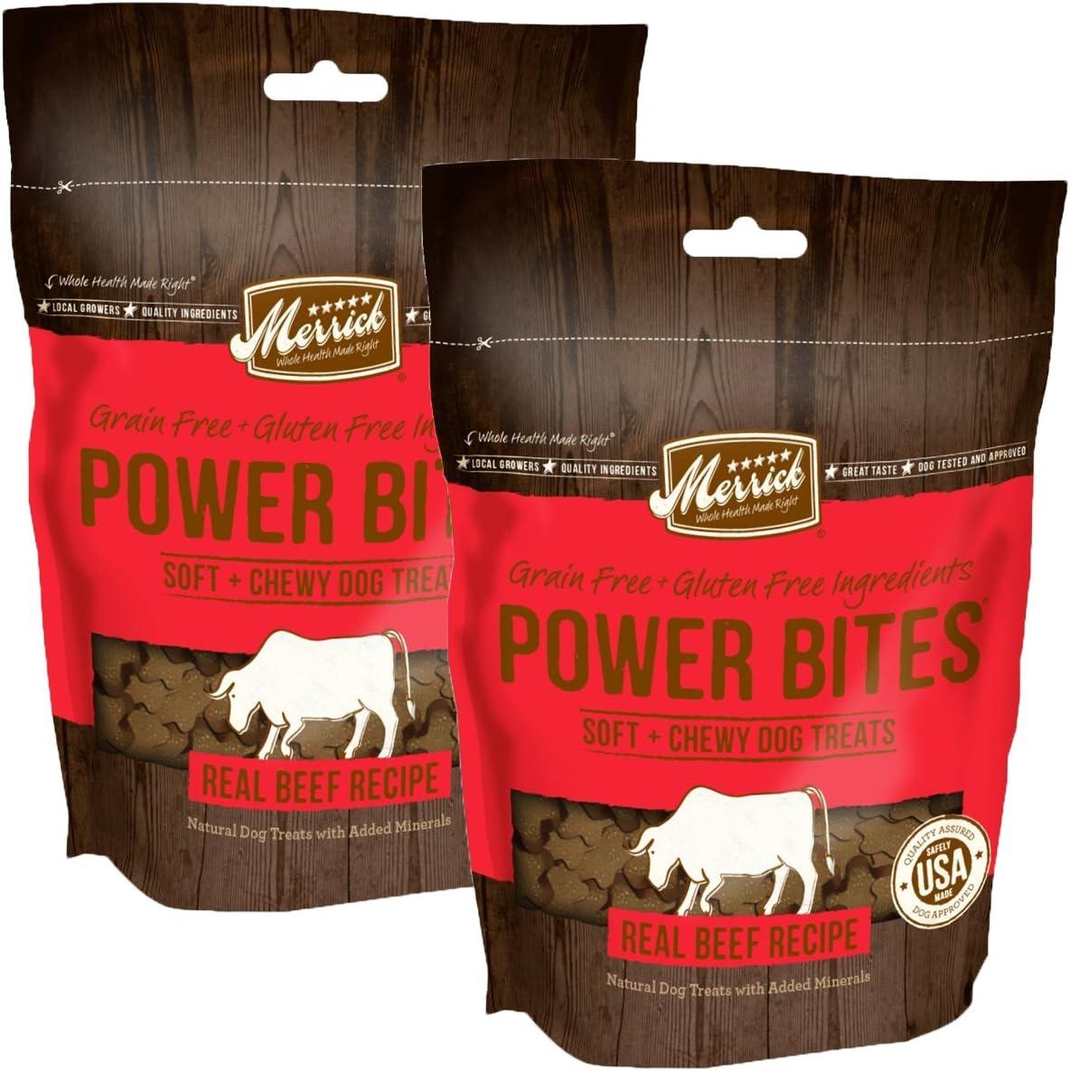 Merrick Grain Free Gluten Free Power Bites Dog Treats, 6 oz (Pack of 2)