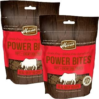 product image for Merrick Grain Free Gluten Free Power Bites Dog Treats, 6 oz (Pack of 2)