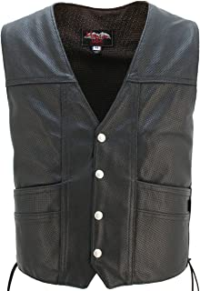 product image for HILLSIDE USA LEATHER INC. Full Perforated Cruiser Vest