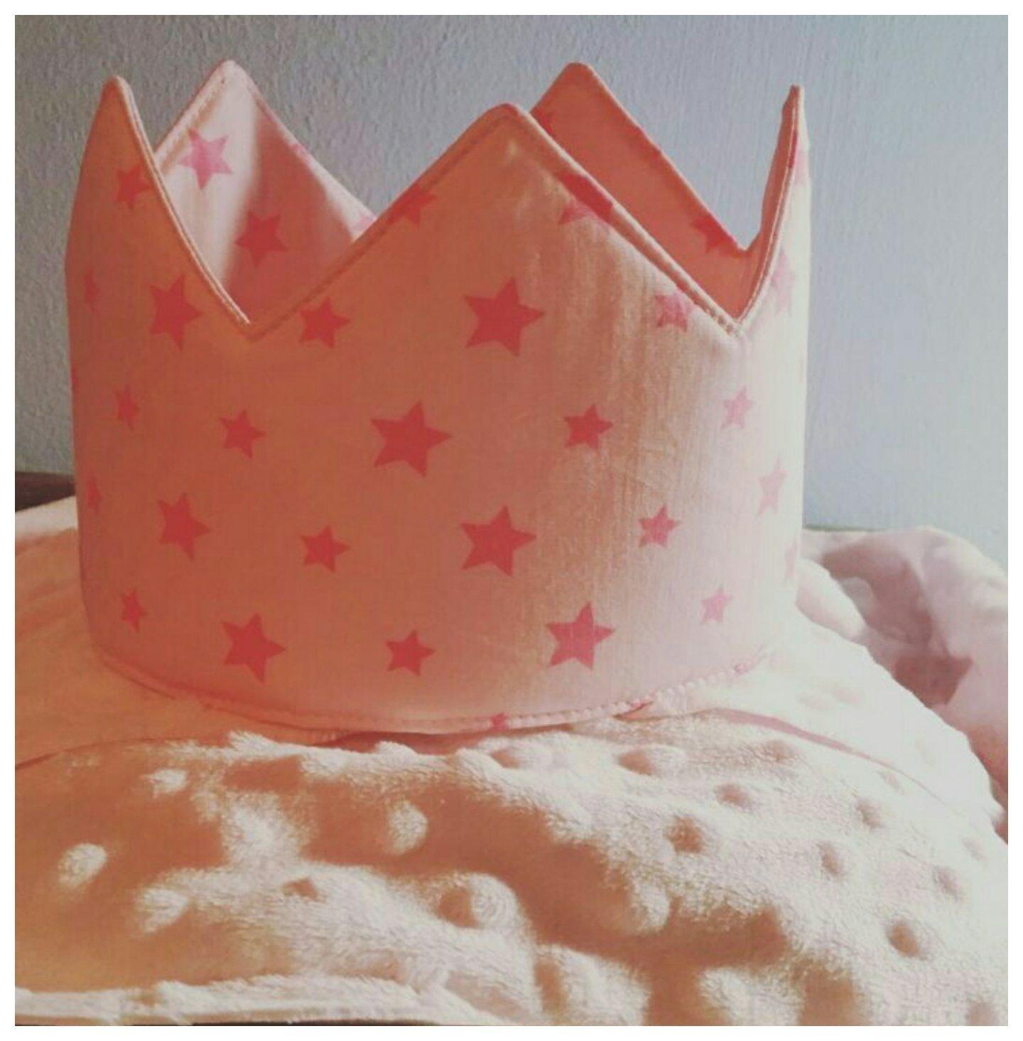 Corona Cumpleaños Tela Estrellas Rosas: Amazon.es: Handmade