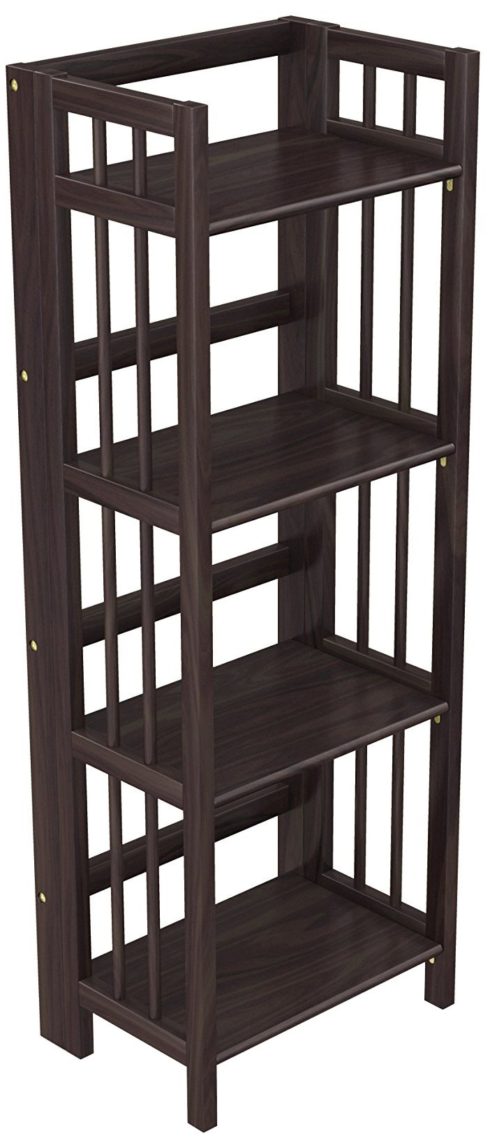 Stony Edge Folding Bookcase Easy Assembly Bookshelf For Home Office Storage 16 Espresso