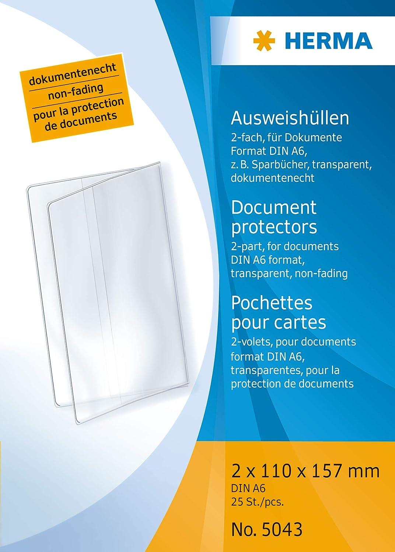 HERMA 5043 - Funda para tarjeta identificativa (2 x 110 x ...