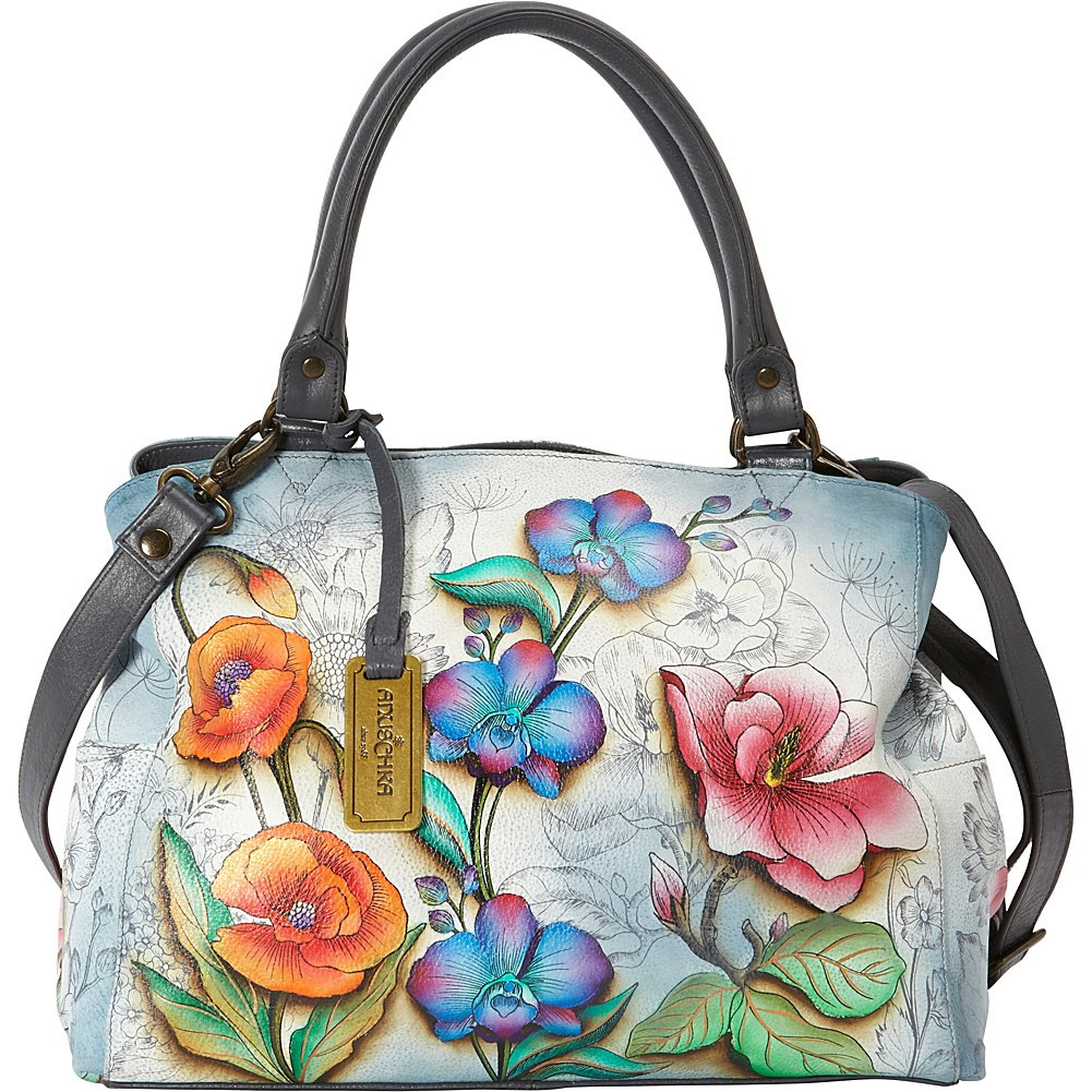 Anuschka Triple Compartment Satchel FLFY, Floral Fantasy, One Size