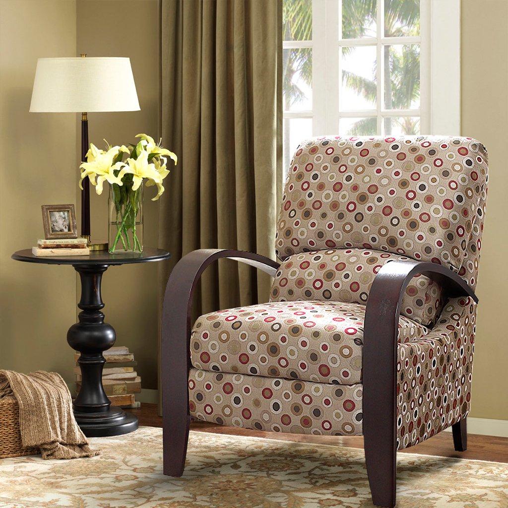 amazon com madison park bent arm recliner chair home kitchen