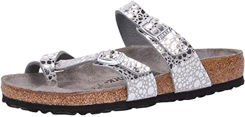 a2384c5233a6 Birkenstock Mayari Women Flip Flops Metallic Stones Silver Gray EU 36 - UK  L3.5