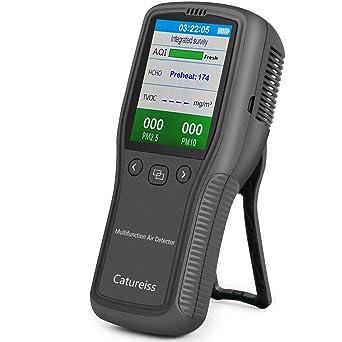 IGERESS Detector de formaldeh/ído para interiores Monitor de calidad del aire Monitor de HCHO Medidor TVOC /…
