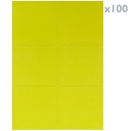 BeMatik - Etiquetas adhesivas amarillas para impresora A4 ...