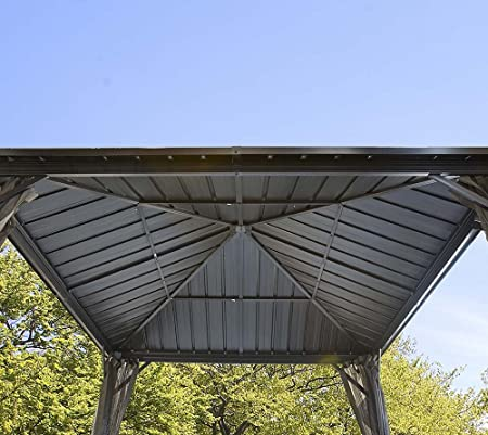 Sojag Aluminio Carpa Pabellón Gazebo Dakota//244 x 244 cm (BxH)//Verano de Carpa y cenador con Hard de Top Techo: Amazon.es: Jardín