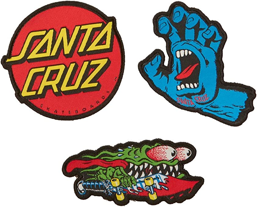 Parches para ropa Santa Cruz Classic Patch Set (3 Pack): Amazon.es: Deportes y aire libre