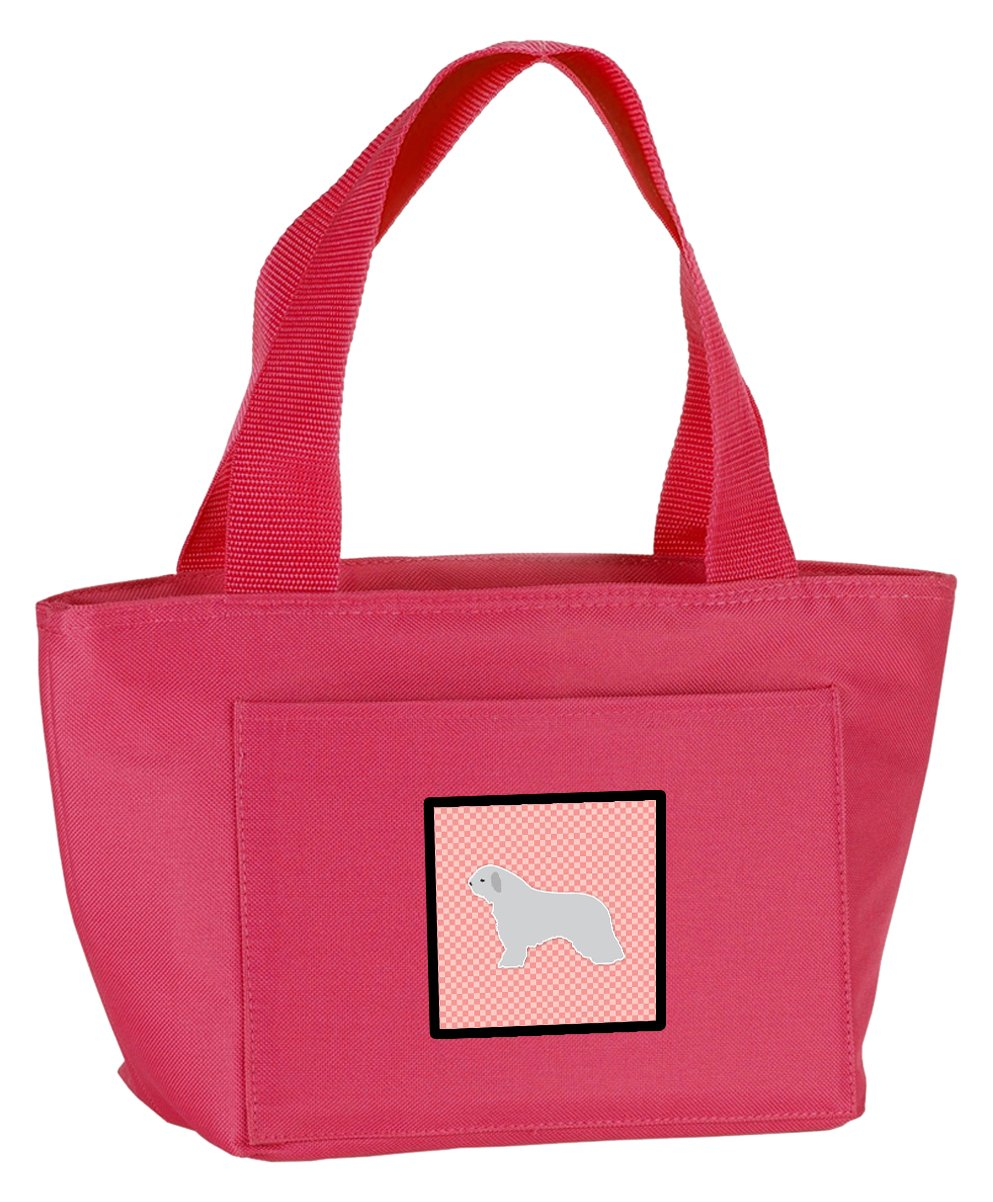 Caroline's Treasures BB3615PK-8808 Spanish Water Dog Checkerboard Pink Insulated Lunch Bag, Large, Multicolor   B072J3NM1W