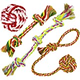 Standie Mark, Pet Puppy Dog Toys for Medium Dogs, Knot Tug Rope Toys for Dogs (Pack of 4)