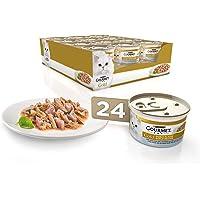 Purina Gourmet Gold Doble Placer - Comida para Gatos Adultos de Pescado del Oceano, 85 g, Pack de 24 Unidades