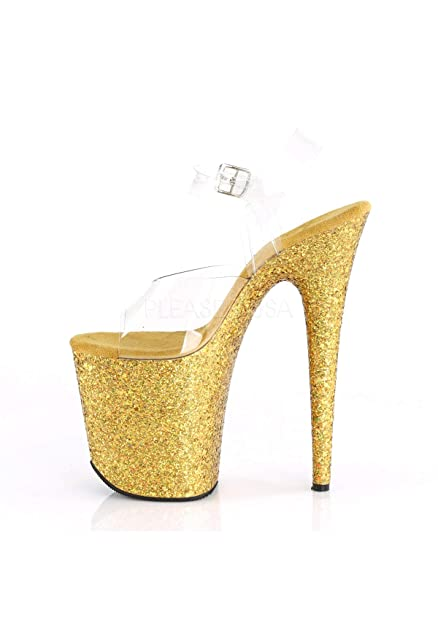 c2a86eef8730 Pleaser Women''s Flamingo-808lg Flatform Sandals: Amazon.co.uk: Shoes & Bags
