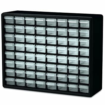 Awesome Akro Mils 10164 64 Drawer Plastic Parts Storage Hardware And Craft Cabinet,  20  Nice Design