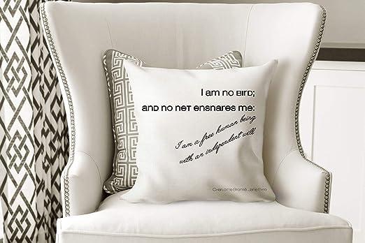 565pir Jane Eyre - Cojín Decorativo con Cita en inglés I Am ...