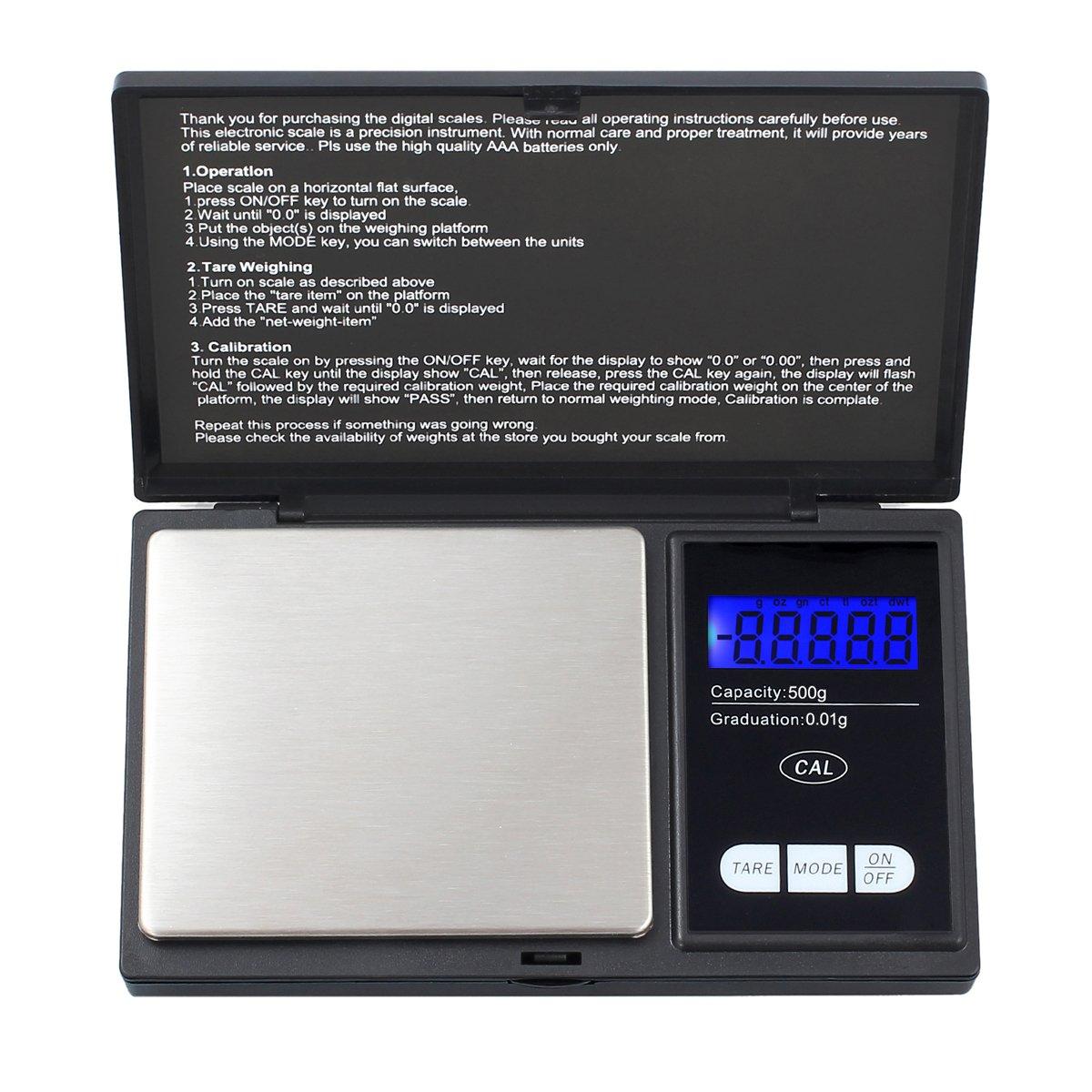 Mini Juwelierwaage Feinwaage Digital-Waage Taschenwaage Prä zisionwaage Goldwaage Justecheu HM297-de-J