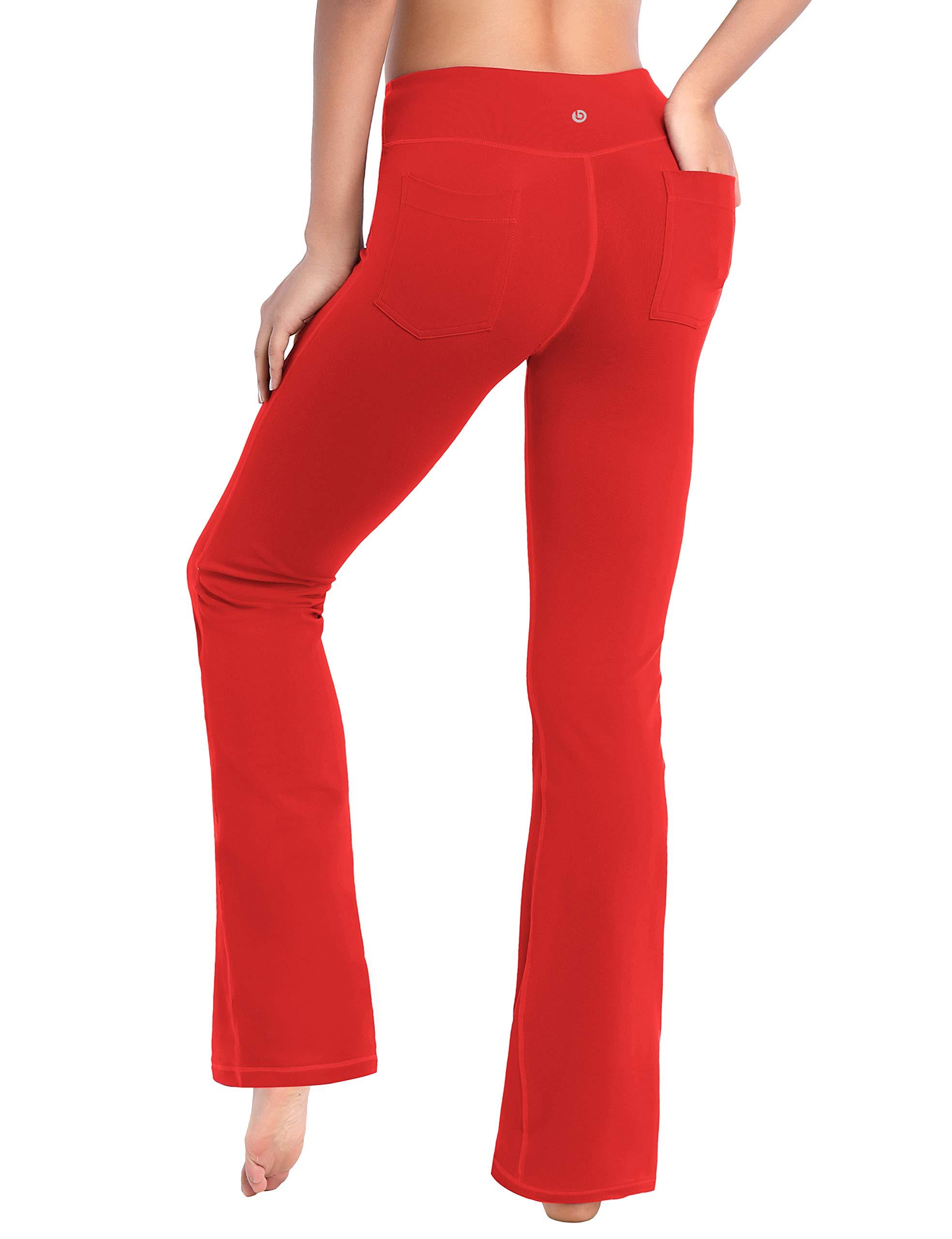 BUBBLELIME 19''/29''/31''/33''/35'' 4 Styles Women High Waist Bootcut Yoga Pants Basic/Back Pocket/Straight Leg Soft Workout Flare by BUBBLELIME
