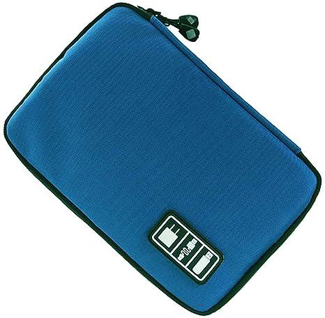 LUCKLYSTAR Organizador Accesorios Electrónicos, Estuche Organizador Cables, Estuche Organizador Universal para iPad Mini 4, Estuche Viaje para iPad ...