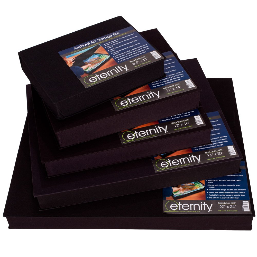 Eternity Archival Clamshell Art And Photo Storage Box - Single Box - [8.5 x 11''] by HG Concepts