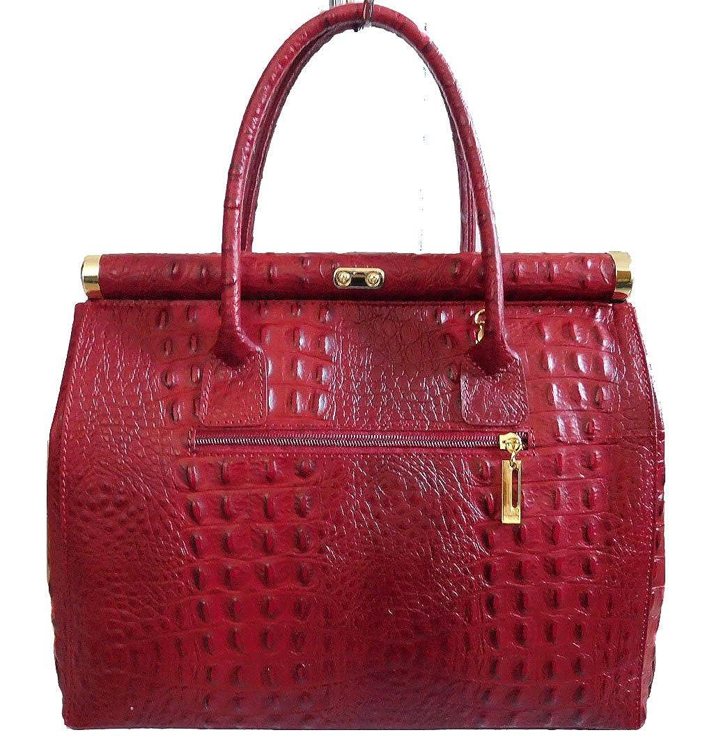 2676479bd5 Bottega Carele Sac femme en cuir véritable imprimé croco rouge fabriqué en  italie: Amazon.fr: Chaussures et Sacs