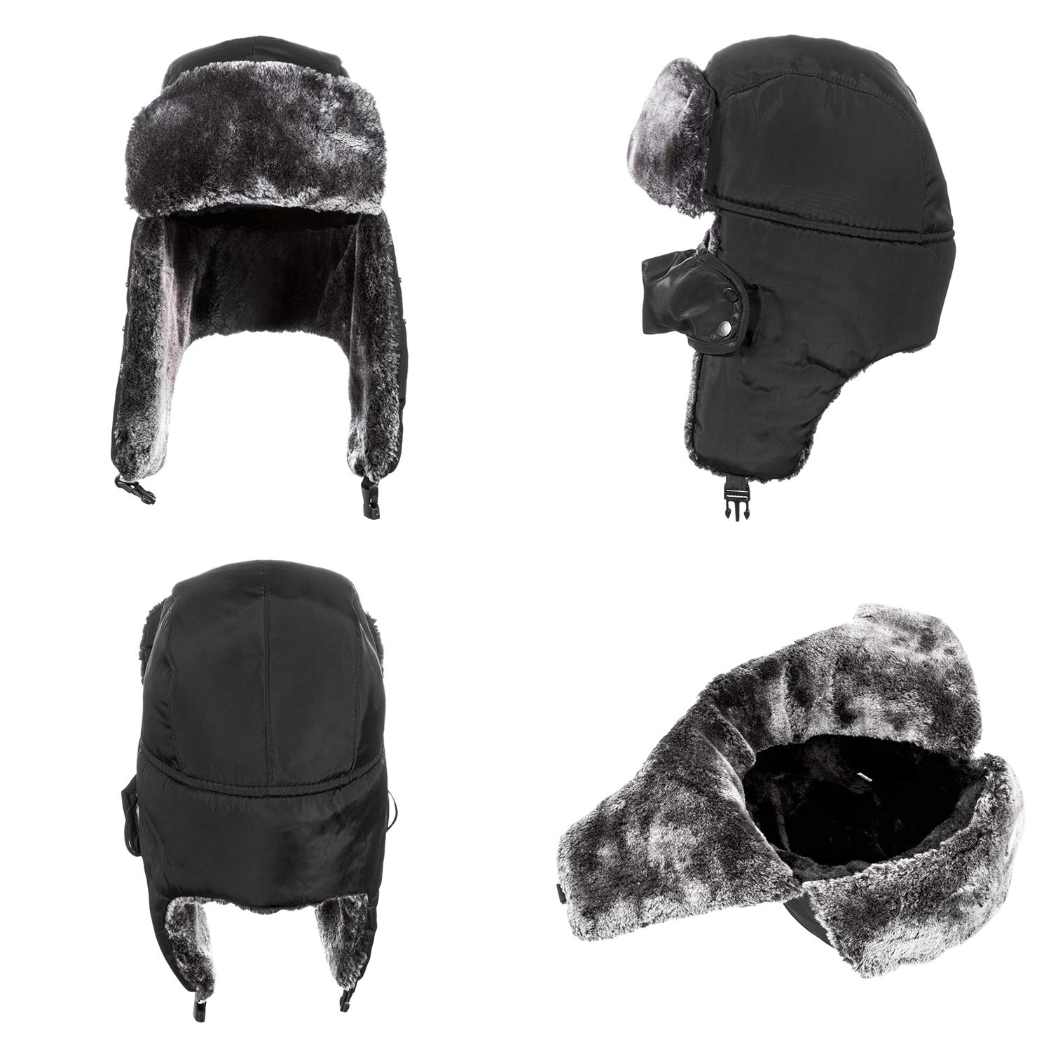 b6eee605465 DYAPP Men s Women s Windproof Ski Trapper Hat with Ear Flaps and Mask Warm  Trooper Hunting Hats