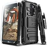 Evocel LG K8V (Verizon) [Generation Series] Rugged Holster [Kickstand & Belt Swivel Clip] + HD Screen Protector For LG K8V (VS500), Black (EVO-LGVS500-AB201)