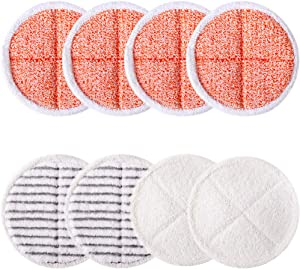 Tomkity 8 Pack Mop Pads Replacement for Bissell Spinwave 2039A 2124 Included 4 Heavy Scrub Pads 2 Soft Pads 2 Scrubby Pads